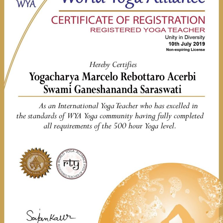 Yogacharya Marccelo Rebottaro - International Yoga Teacher