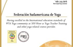 WYA 500hs Federación Sudamericana de yoga
